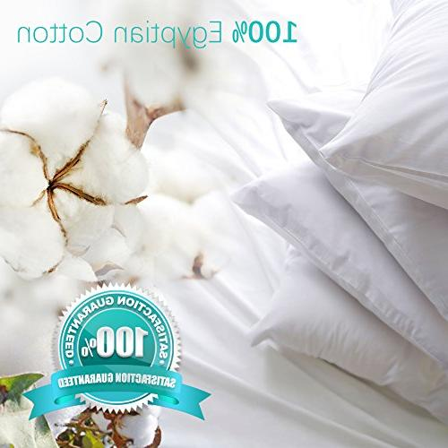 4-Pack Premium 100% Zippered Pillowcases Dust Mite Bug Resistant Pillow Protectors,