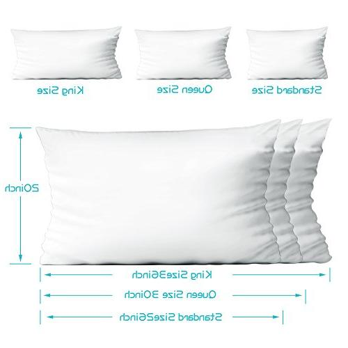 4-Pack Premium 100% Zippered Pillow Covers, Bug Resistant Allergy Control Pillow