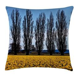 americana landscape decor throw pillow