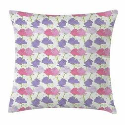 Lavender Throw Pillow Cases Cushion Covers by Ambesonne Home