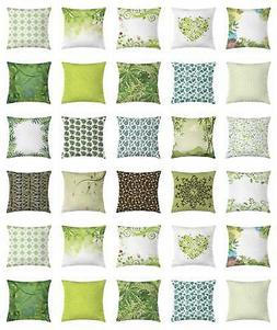 Leaves Throw Pillow Cases Cushion Covers by Ambesonne Home A