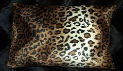 leopard pillow shams standard queen king faux