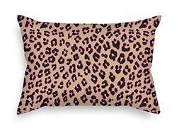 leopard throw christmas pillow case