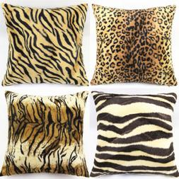 Leopard Zebra Animal Print Throw Pillow Cases Cushion Covers