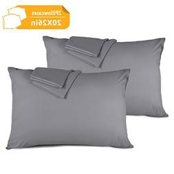 Adoric Life Pillowcases Set of 2, 100% Brushed Microfiber, M