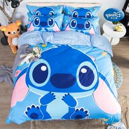 Disney Lilo and Stitch Bedding Set Quilt Cover Blue Comforte