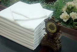 LOT OF 32 NEW WHITE HOTEL PILLOW CASES COVERS T-180 STANDARD