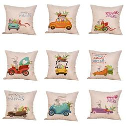 Lots Easter Rabbit Egg Pillow Cases Cute Cushion Cover Home