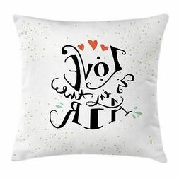 Love Throw Pillow Cases Cushion Covers Ambesonne Accent Deco