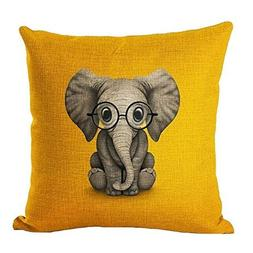 Aremazing Lovely Animals Elephant Baby Wearing Glasses Cotto