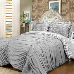 Sweet Home Collection Luxurious 7Piece Rouched Reversible to