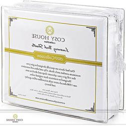 Luxury Bed Fitted Flat Sheets Set Deep Pocket Cool Breathabl