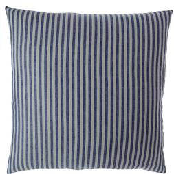Luxury Linen Damask Navy Blue and White Striped 12 inch Smal
