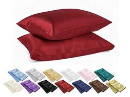 Alexandra DreamHome Luxury 2-Piece Silky Soft Satin Pillow C