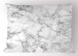 Ambesonne Marble Pillow Sham, Nature Granite Pattern with Cl