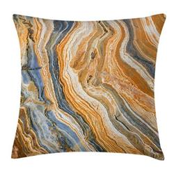 Ambesonne Marble Throw Pillow Cushion Cover by, Colorful Roc