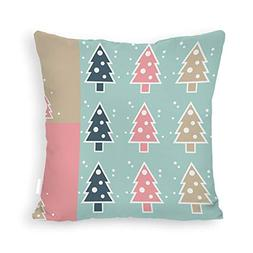 DKISEE Merry Christmas Throw Pillow Cover Simple Christmas T