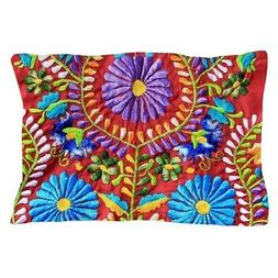 """CafePress Mexican Embroidery Standard Size Pillow Case, 20""""x"""