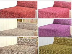 Microfiber Animal Print ZEBRA Leopard 4PC SHEET SET Bedding