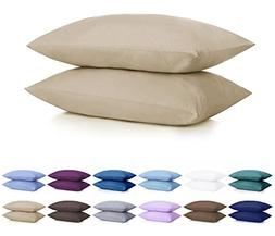 DreamHome Microfiber Pillow Case with Zipper, 2 Pillow Cases