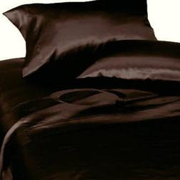 Mk Collection 2 King Pillow Cases Soft Silky Satin Solid Bro