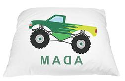 Monster Truck Personalized Kids Pillowcase, Truck Pillow, To