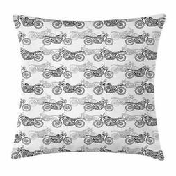 motorcycle throw pillow cases cushion covers accent
