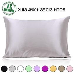 100% Pure Mulberry Slip Silk Pillowcase Standard Size 21 Mom