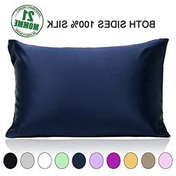 100% Pure Mulberry Slip Silk Pillowcase Queen Size 21 Momme