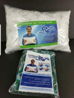 MyPillow My Pillow Travel Pillow Roll & Go with Pillow Case