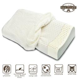 ALPHA LATEX Natural Hypoallergenic 100% Latex Pillow with pi