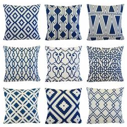 Navy Blue Accent Premium Throw PILLOW COVER Sofa Couch Cushi