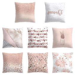 New <font><b>Pillow</b></font> Cover Glitter Pineapple Love