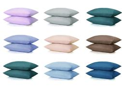 NEW ULTRA SOFT PILLOWCASES - 2 Pillow Cases Per Set Standard