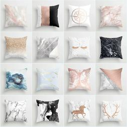 Nordic Minimalist Style Pink Marble 18 Inch Cushion Cover Pi