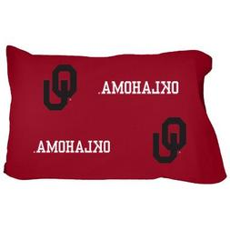 College Covers Oklahoma Sooners Pillowcase Pair - Solid