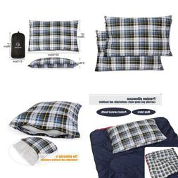 Outdoor Camping Pillow Lightweight 1Pc 2Pcs Flannel Travel C