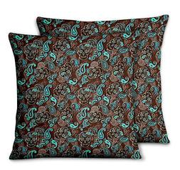 paisley designer bed room pillow cases cushion