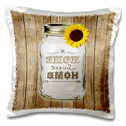 3dRose pc_128555_1 Country Rustic Mason Jar with Sunflower-H