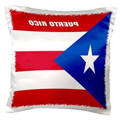 3dRose pc_45062_1 State Flag of Puerto Rico-Pillow Case, 16