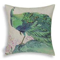 Creazy® Peacock Sofa Bed Home Decor Pillow Case Cushion Cov