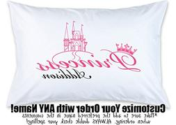 Personalized Children's Pillow Case, Princess, Custom Printe