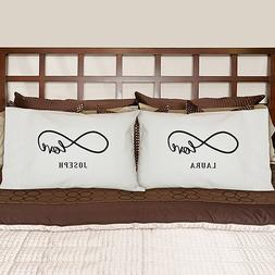 GiftsForYouNow Personalized Infinity Design White Pillowcase