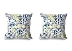 Phantoscope New Living Blue&Green Decorative Throw Pillow