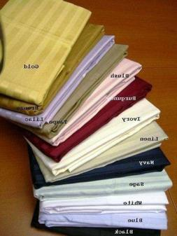 Pillow Cases 100 Cotton 400 TC All USA Sizes  All Colors 2 Q