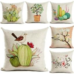 Pillow Cases 18inch Cushion Personalized Cotton Linen Plant