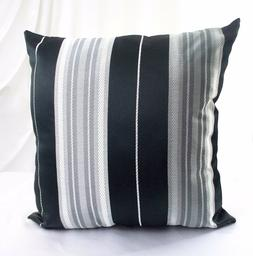 pillow cases cover striped black white cushion