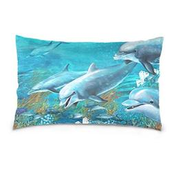 Lovexue Pillow Cases Cute Dolphin Bed Throw Pillow Covers Pr