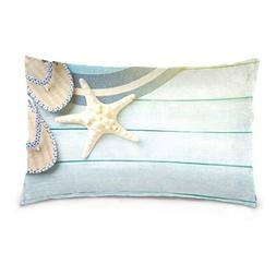 Lovexue Pillow Cases Flip Flops Hat and Starfish Bed Throw P