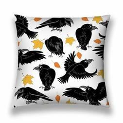 Pillow Cases Ravens Autumn Leaves Pattern Cushion Cover For